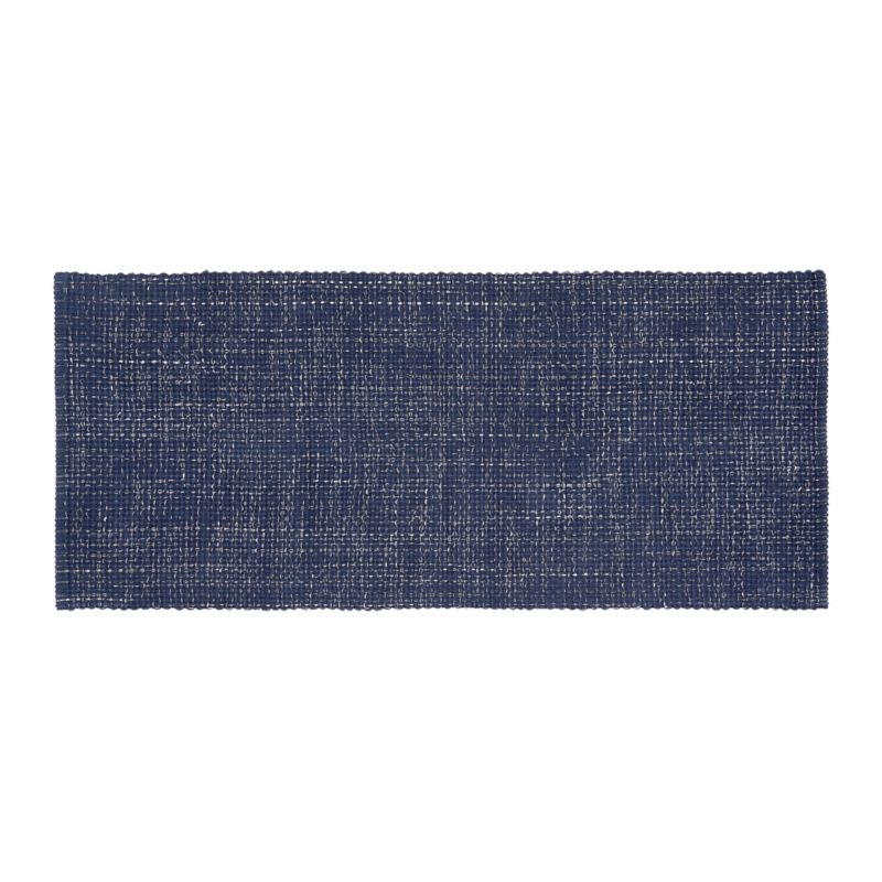 Della Indigo Cotton Flat Weave Rug Runner 2 5x6 Reviews