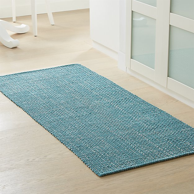 Della Marine Cotton Flat Weave Rug Runner - Image 1 of 2