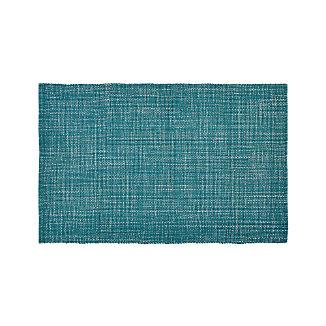 Della Marine Cotton Flat Weave Rug 5'x8'