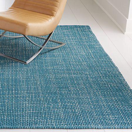 Della Marine Cotton Flat Weave Rug