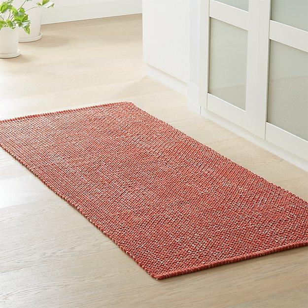 Della Sienna Cotton Flat Weave Rug Runner - Image 1 of 2