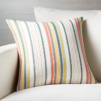 "Delmar Stripe 18"" Pillow with Down-Alternative Insert"