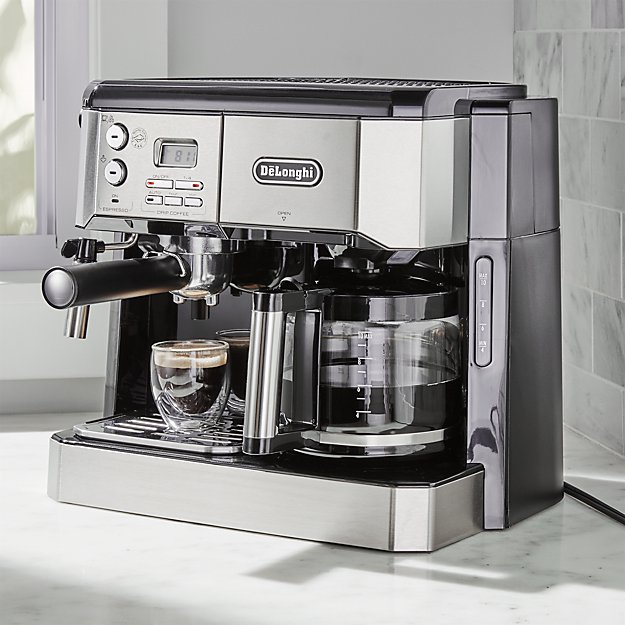 delonghi combination coffee espresso machine crate and barrel. Black Bedroom Furniture Sets. Home Design Ideas