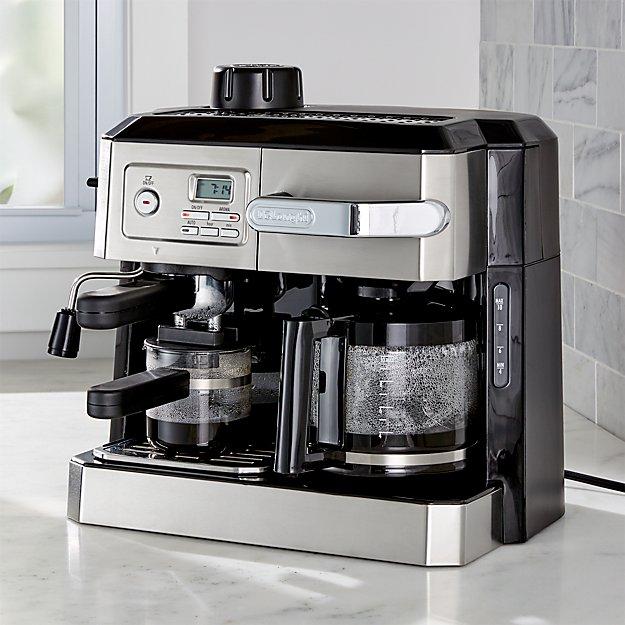 delonghi combination coffee and espresso machine crate and barrel. Black Bedroom Furniture Sets. Home Design Ideas