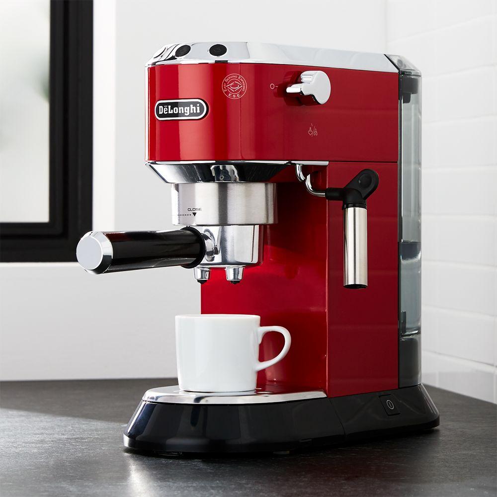 DeLonghi ® Dedica Slimline Red Espresso Maker - Crate and Barrel