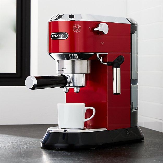 Delonghi Dedica Slimline Red Espresso Maker Reviews Crate And Barrel
