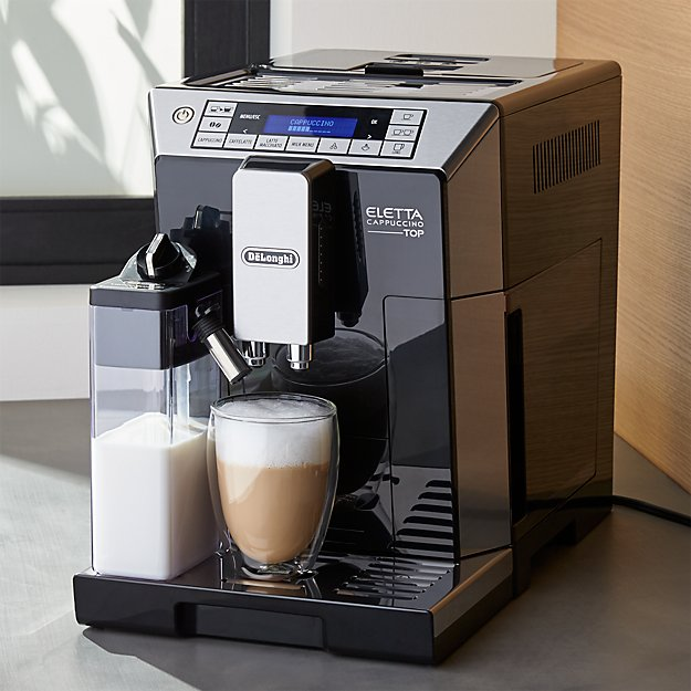 delonghi eletta fully automatic coffee maker reviews crate and barrel. Black Bedroom Furniture Sets. Home Design Ideas