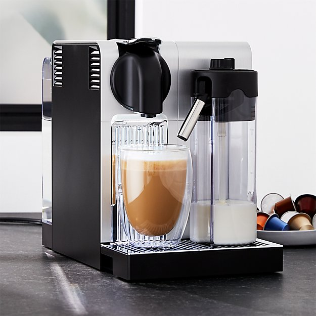 delonghi nespresso lattissima pro espresso maker reviews crate and barrel. Black Bedroom Furniture Sets. Home Design Ideas
