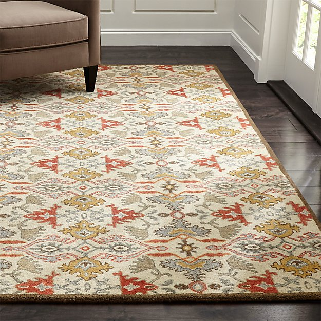 Delphine Orange Wool Rug