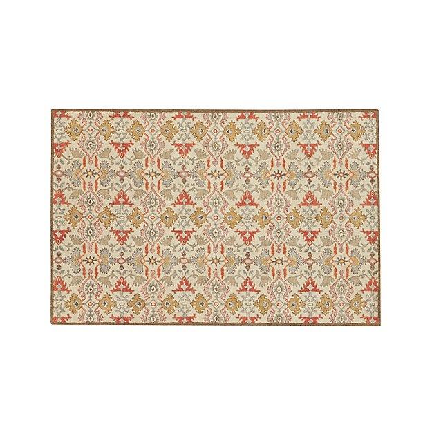 Delphine Spice Orange Wool 6'x9' Rug