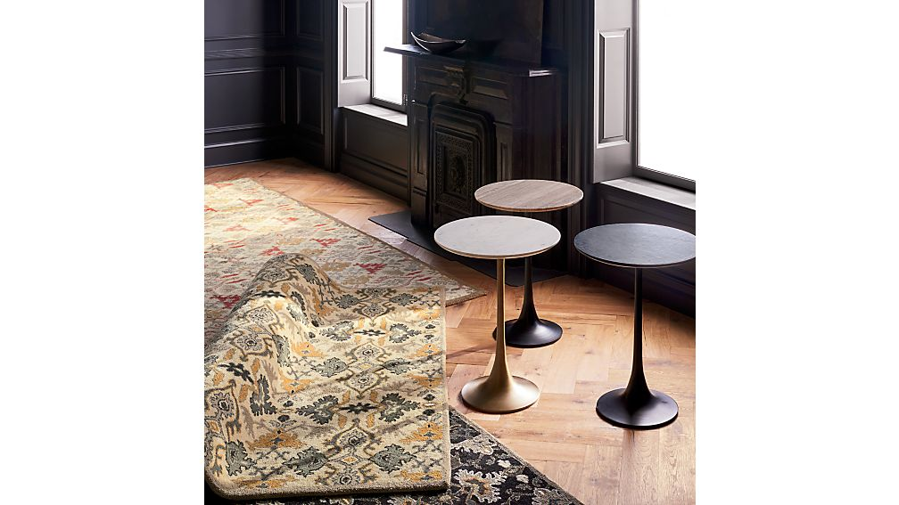 Nero White Marble Accent Table