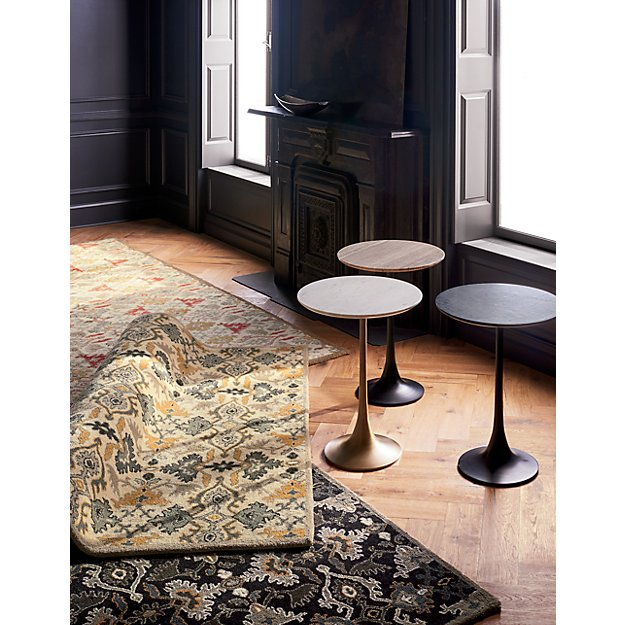Delphine Spice Orange Wool Rug Crate And Barrel