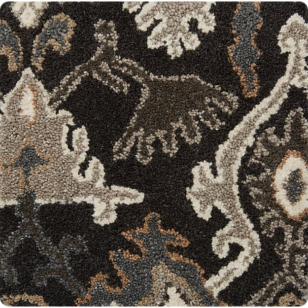 "Delphine Black 12"" sq. Rug Swatch"