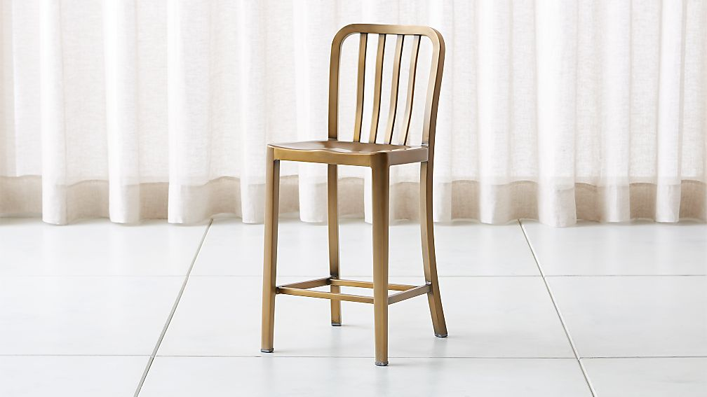 Delta Brass Counter Stool - Image 1 of 7