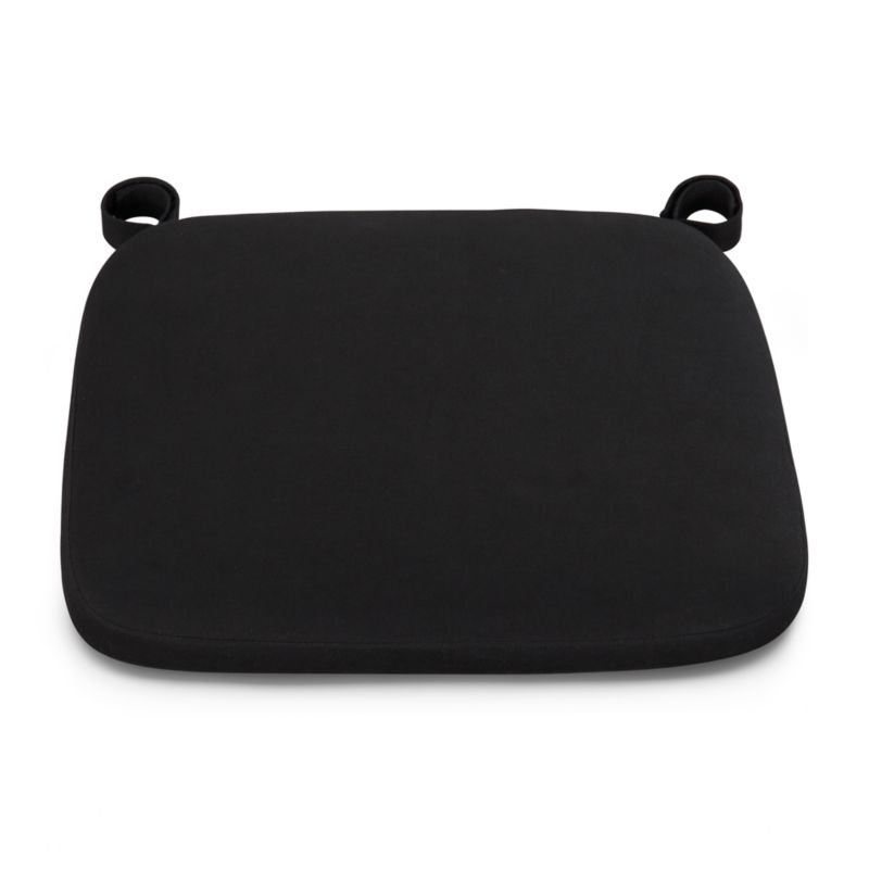 Our custom cushion in black features a contemporary box style.<br /><br /><NEWTAG/><ul><li>100% cotton cover</li><li>Machine wash</li><li>Fabric tab fasteners</li><li>See product label or call customer service at 800.606.6462 for additional details on product content</li><li>Made in India</li></ul>
