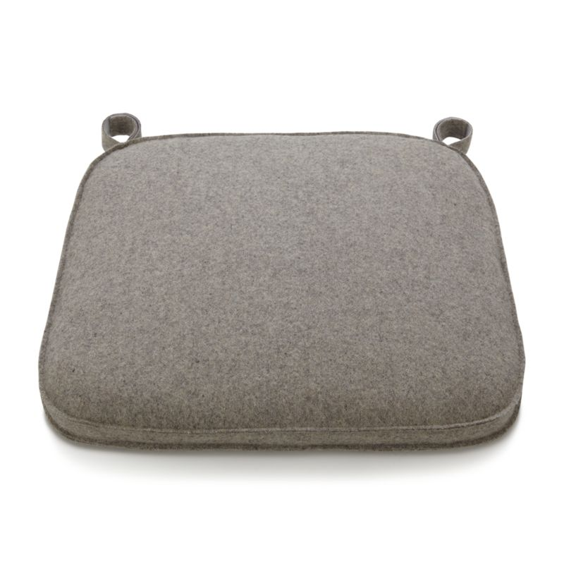 Delta Felt Grey Chair Bar Stool Cushion