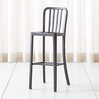 delta matte black bar stool