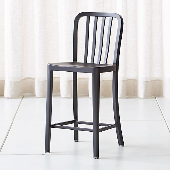 lowest price 107ee 2bedf Delta Matte Black Counter Stool