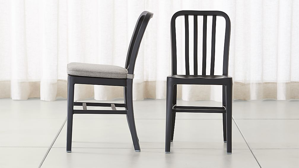 Delta Matte Black Dining Chair and Cushion - Image 1 of 12