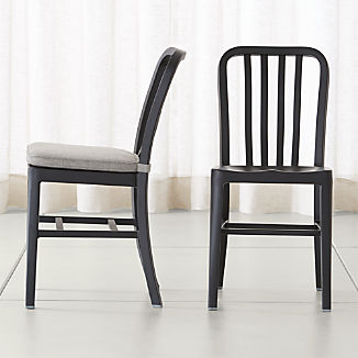 Delta Matte Black Dining Chair and Cushion