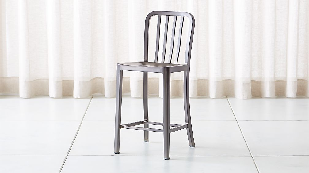 3e6ec466aac Delta Nickel Counter Stool Reviews Crate And Barrel