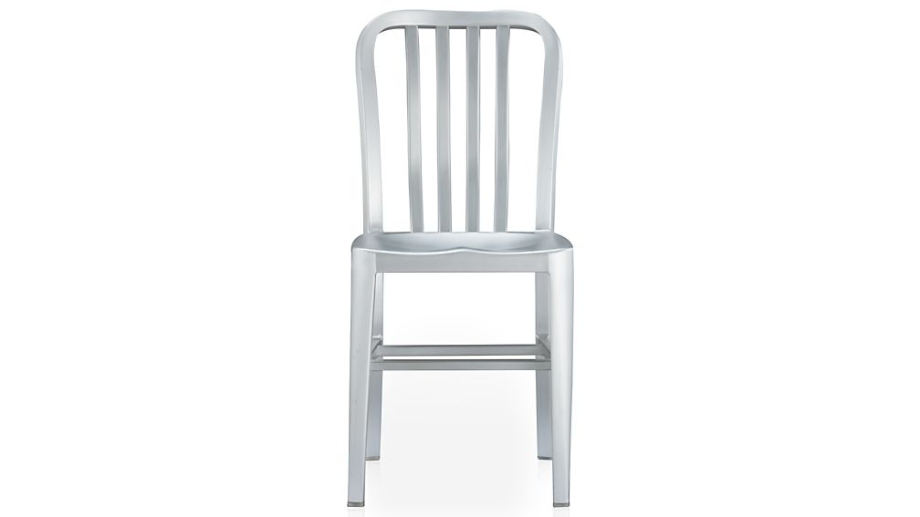 Favorite Delta Aluminum Dining Chair and Cushion | Crate and Barrel RU82