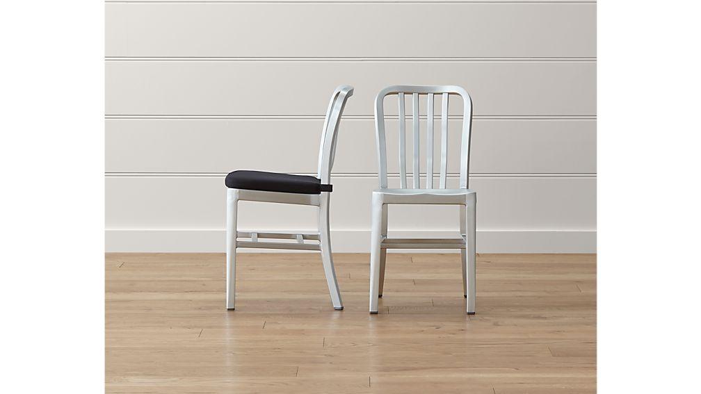 Delta Aluminum Dining Chair Crate and Barrel