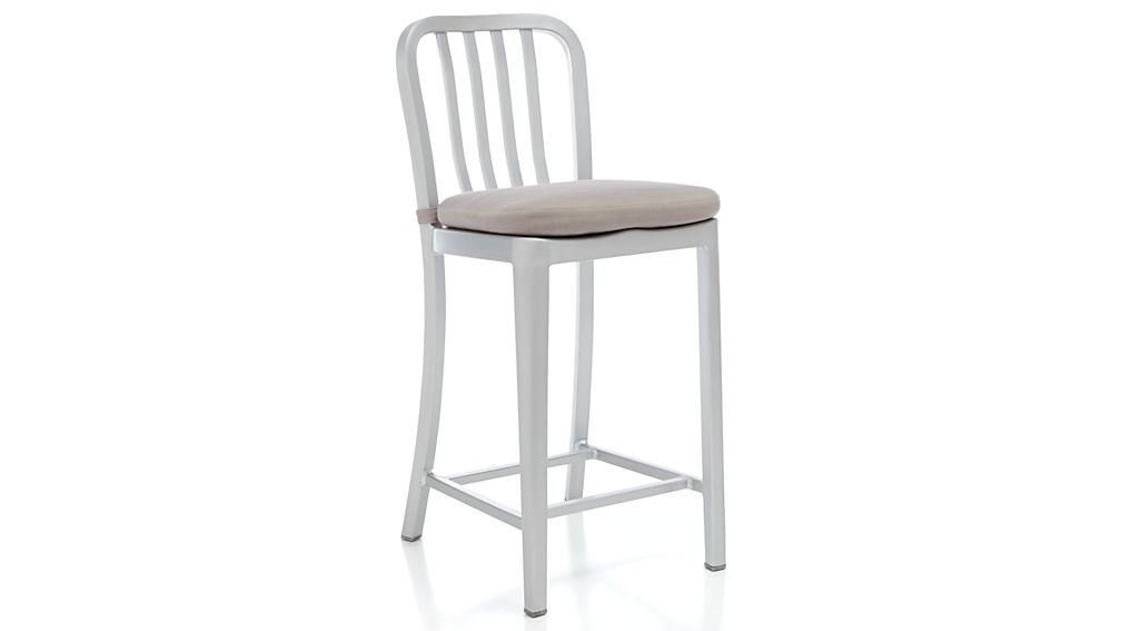 Delta Alloy Chair-Bar Stool Cushion | Crate and Barrel