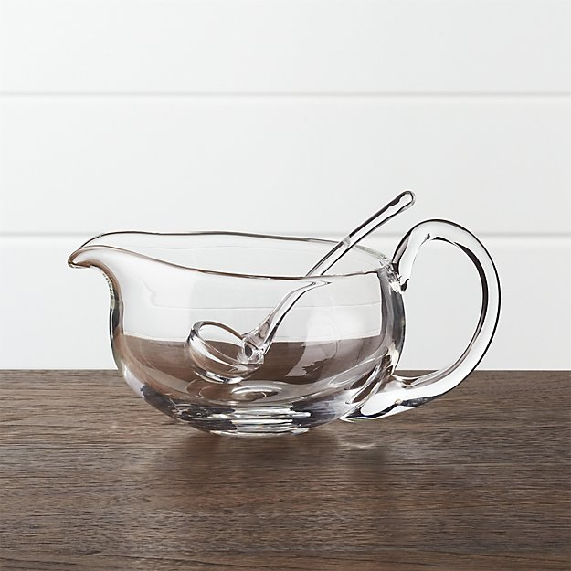Deluxe Glass Gravy Boat with Ladle - Image 1 of 4