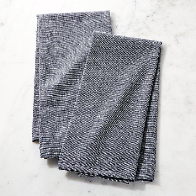 Denim Dish Towels, Set of 2 - Image 1 of 4