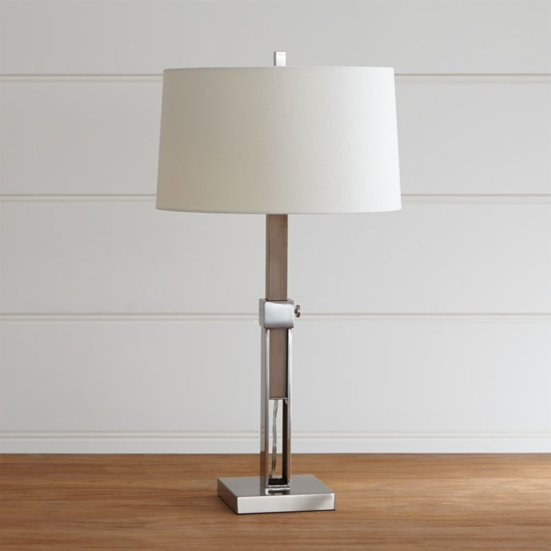 Denley Nickel Table Lamp Reviews Crate And Barrel