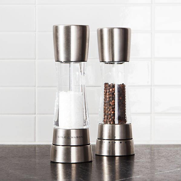 Cole & Mason ® Derwent Stainless Steel Adjustable Salt and Pepper Mills