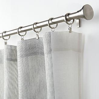 Deseray Off White Mesh Curtain Panel