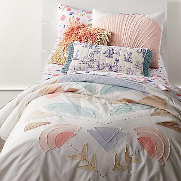Girls Bedding: Sheet & Duvets   Ships Free   Crate and Barrel