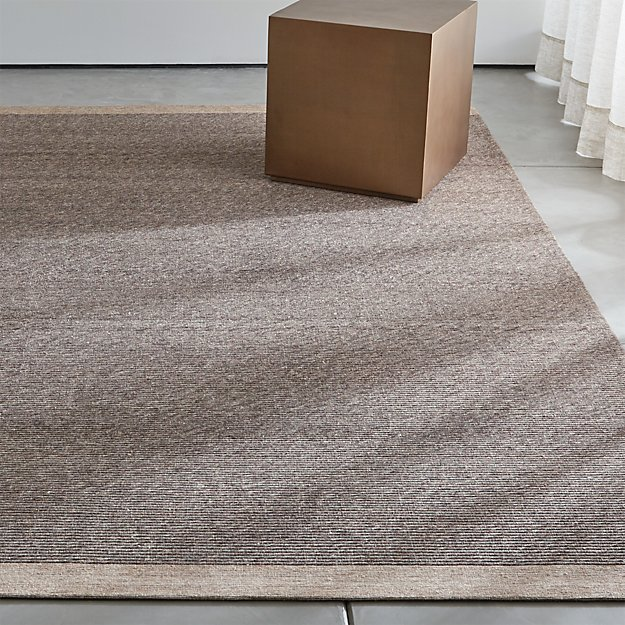 Desi brown and grey rug crate and barrel for Best stores for rugs