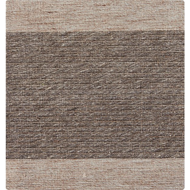 "Desi Mocha Brown-Grey 12"" sq. Rug Swatch"