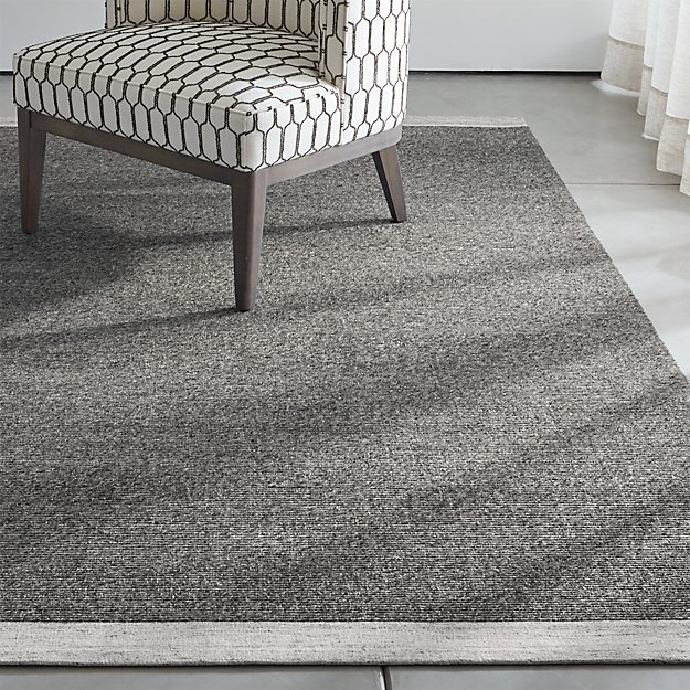 Desi Pewter Grey Flat Woven Rug Crate And Barrel