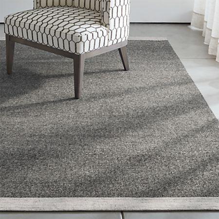 Desi Pewter Grey Flat Woven Rug