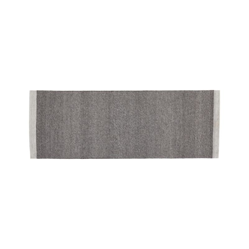 Desi pewter grey flat woven rug runner 2 5 39 x7 39 in runner for Sideboard x7