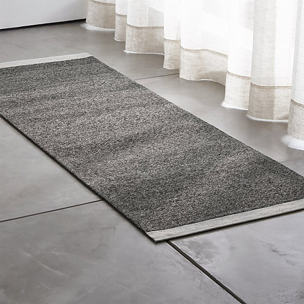 Desi Pewter Grey Rug Runner Crate And Barrel