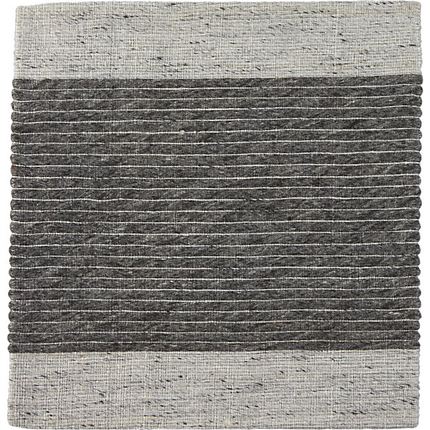 """Crate And Barrel Desi Rug: Desi Pewter Grey Flat Woven Rug Swatch 12"""" Sq. + Reviews"""
