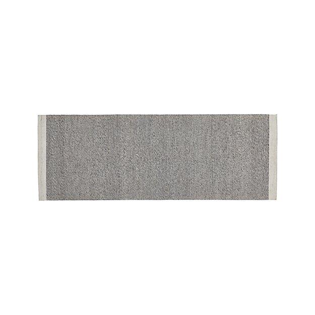 Desi Smoke Grey 2.5'x7' Rug Runner