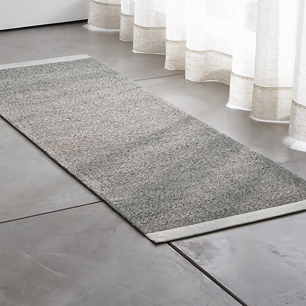 Desi Smoke Grey Rug Runner