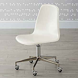 Kids Cl Act White And Silver Desk Chair