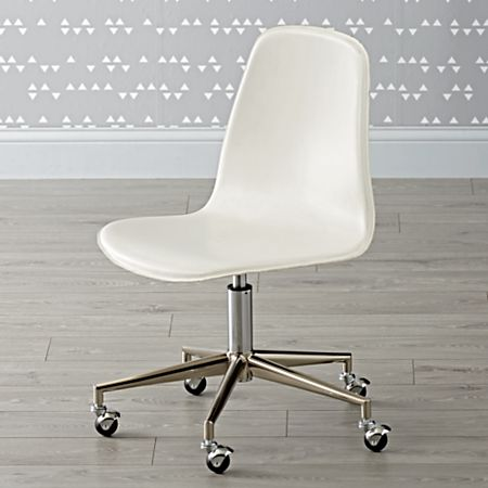 Swell Kids White And Silver Desk Chair Reviews Crate And Barrel Gmtry Best Dining Table And Chair Ideas Images Gmtryco
