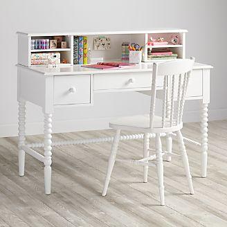 Kids Jenny Lind White Spindle Desk And Hutch