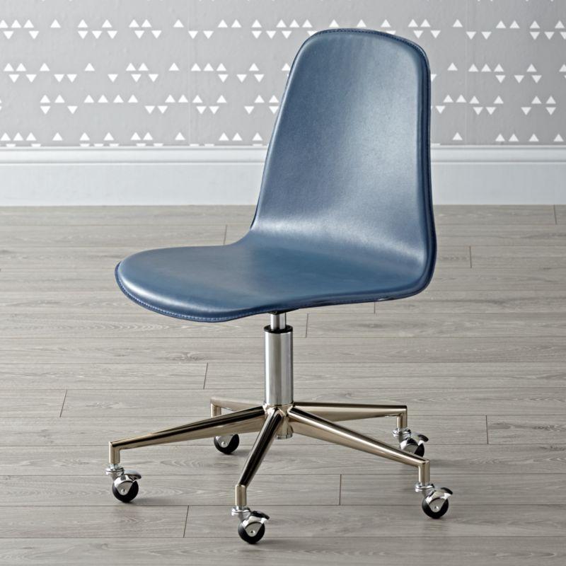 dark blue  silver class act desk chair reviews crate Blue Desk Chair with Arms Teal Desk Chair