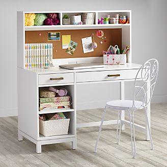 Kids Cargo White Desk And Hutch