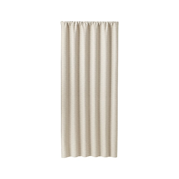 "Desmond Silver/Cream 50""x84"" Curtain Panel"