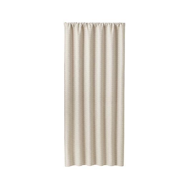 "Desmond Silver/Cream 50""x120"" Curtain Panel"